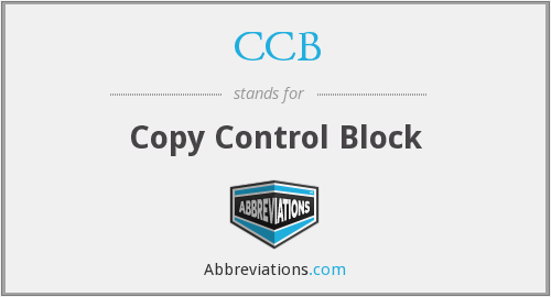 CCB - Copy Control Block