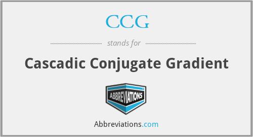 CCG - Cascadic Conjugate Gradient