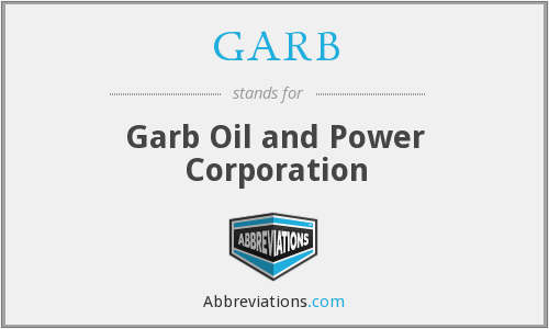 What does GARB stand for?