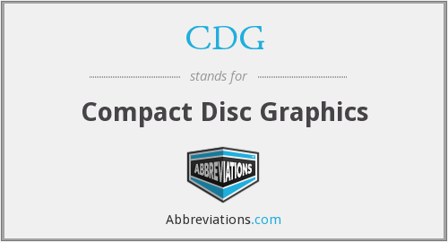 CDG - Compact Disc Graphics