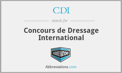 CDI - Concours de Dressage International