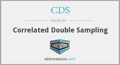 CDS - Correlated Double Sampling