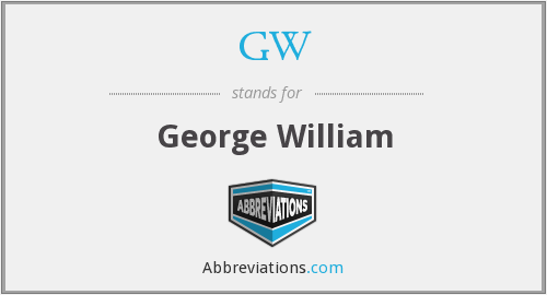 GW - George William