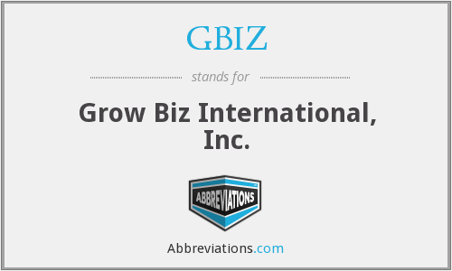 What does GBIZ stand for?