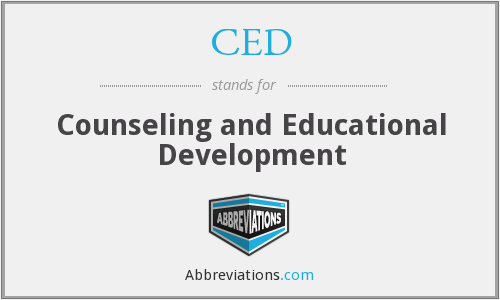 CED - Counseling and Educational Development