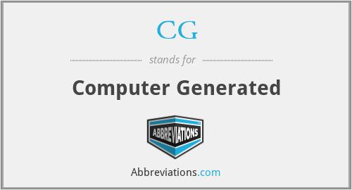CG - Computer Generated