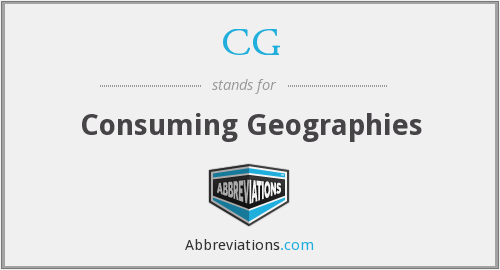 CG - Consuming Geographies