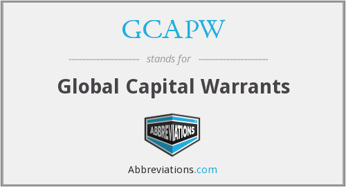What does GCAPW stand for?