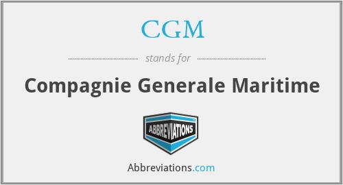 CGM - Compagnie Generale Maritime
