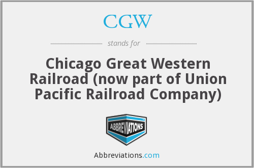CGW - Chicago Great Western Railroad (now part of Union Pacific Railroad Company)