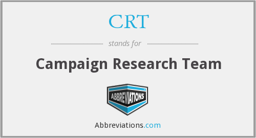 CRT - Campaign Research Team