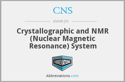 CNS - Crystallographic and NMR (Nuclear Magnetic Resonance) System