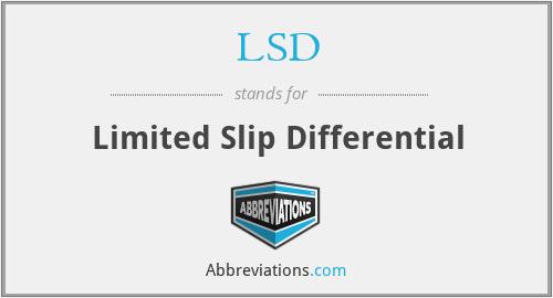 LSD - Limited Slip Differential