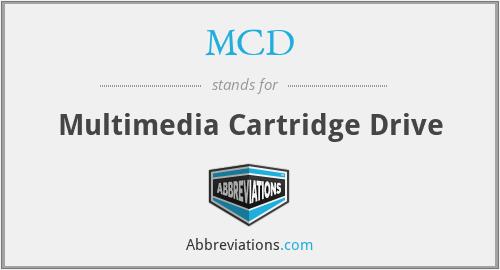 MCD - Multimedia Cartridge Drive