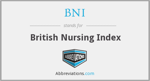 BNI - British Nursing Index