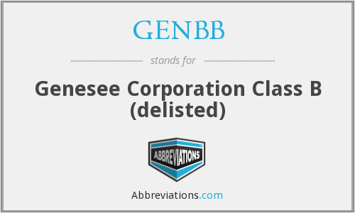 What does GENBB stand for?