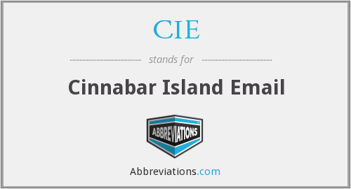 CIE - Cinnabar Island Email