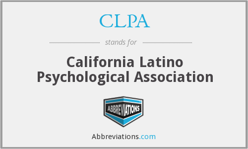 CLPA - California Latino Psychological Association