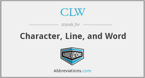 CLW - Character, Line, and Word