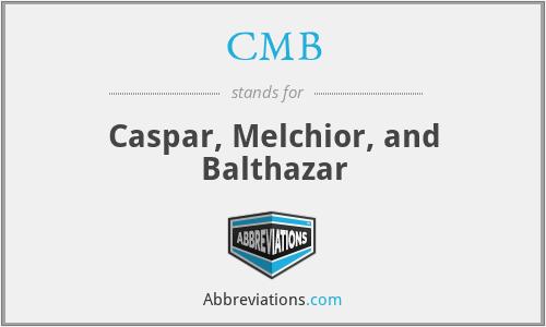 CMB - Caspar, Melchior, and Balthazar