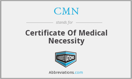 What is the abbreviation for Certificate Of Medical Necessity?