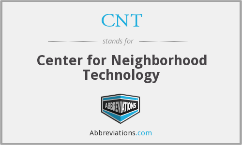 CNT - Center for Neighborhood Technology