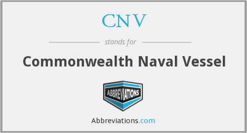 CNV - Commonwealth Naval Vessel