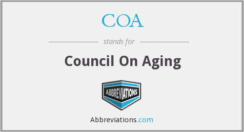COA - Council On Aging