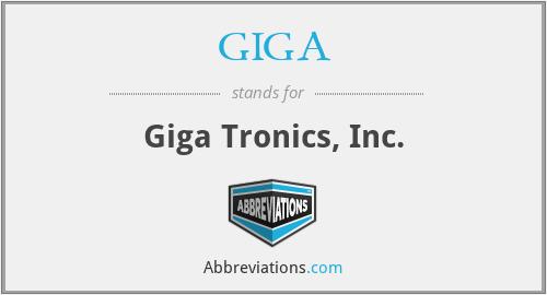 GIGA - Giga Tronics, Inc.