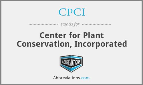 CPCI - Center for Plant Conservation, Inc.