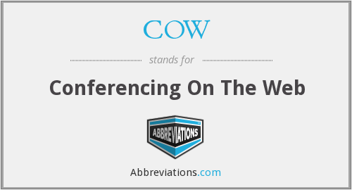 COW - Conferencing On The Web