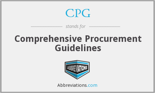 CPG - Comprehensive Procurement Guidelines