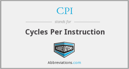 CPI - Cycles Per Instruction