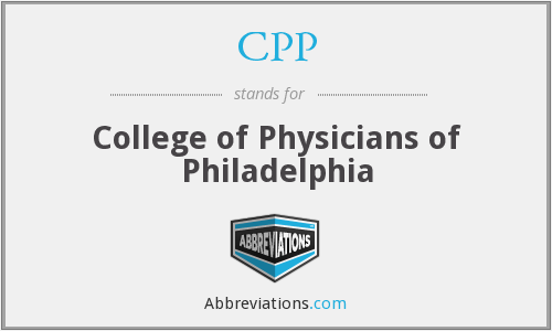 CPP - College of Physicians of Philadelphia
