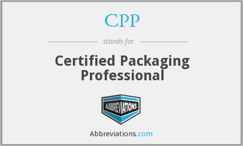CPP - Certified Packaging Professional