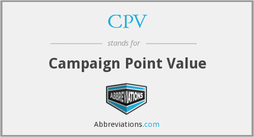 CPV - Campaign Point Value