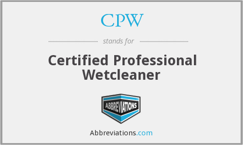 CPW - Certified Professional Wetcleaner