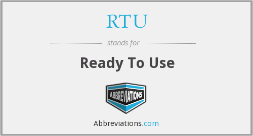 What does RTU stand for?
