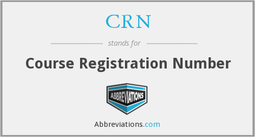 CRN - Course Registration Number