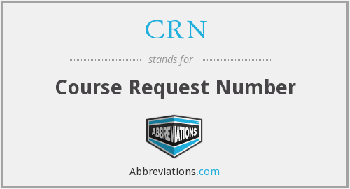 CRN - Course Request Number