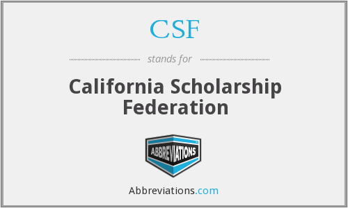 CSF - California Scholarship Federation
