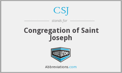 CSJ - Congregation of Saint Joseph