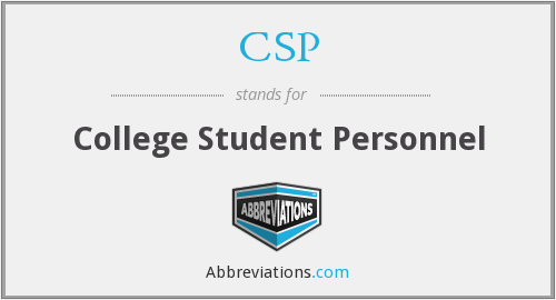 CSP - College Student Personnel