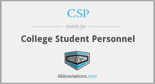 CSP - College Student Personnel