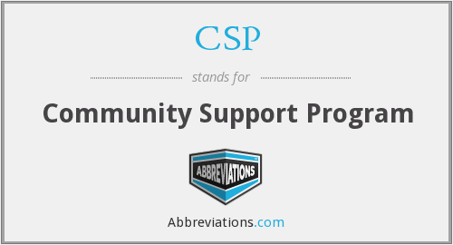 CSP - Community Support Program