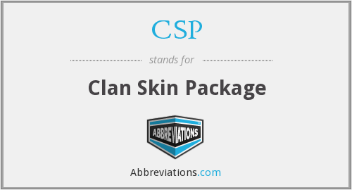 CSP - Clan Skin Package
