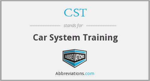 CST - Car System Training