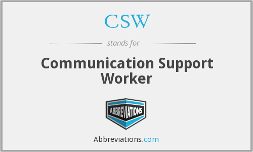 CSW - Communication Support Worker