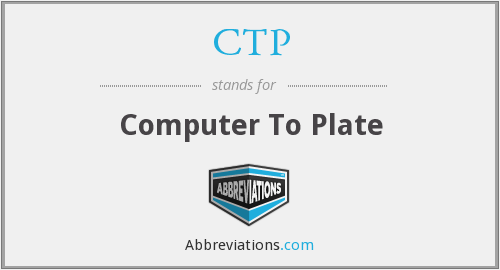 CTP - Computer To Plate