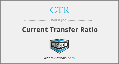 CTR - Current Transfer Ratio
